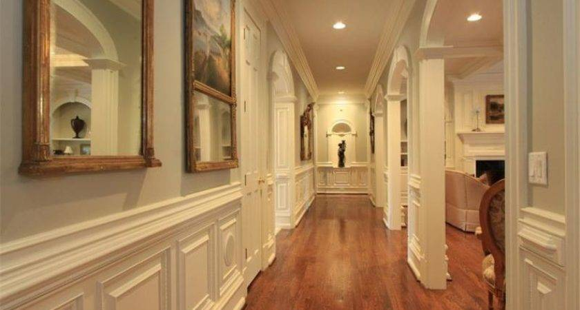 Traditional Hallway Crown Molding Wainscoting