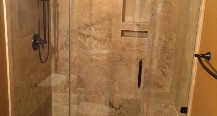 Travertine Tub Shower Conversion Bathroom Remodeling