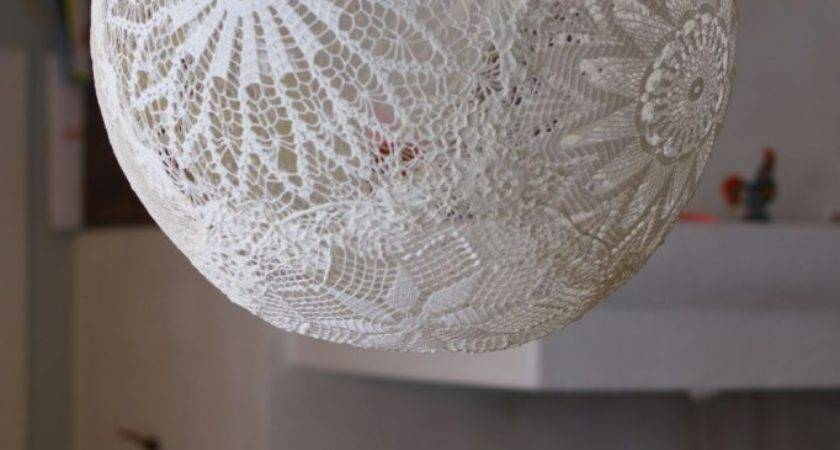 Tutorial Make Lamp Out Doilies Diy Lampa