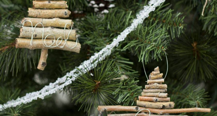 Twig Wire Christmas Ornaments Make Love