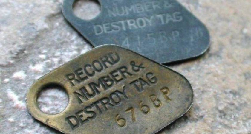 Two Brass Metal Record Number Destroy Thelostrooms