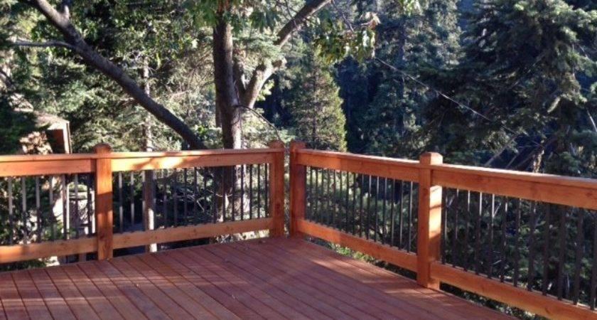 Two Story Wrap Around Deck Custom Design Railings