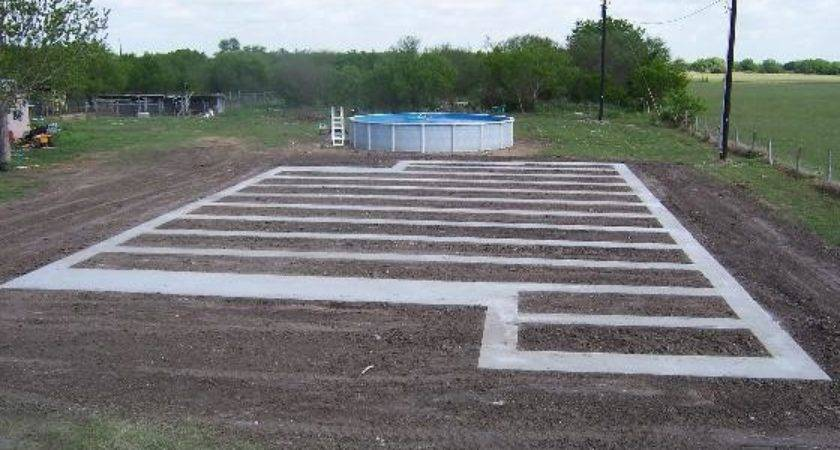 Typical Concrete Runner Foundation Bryan Texas Home