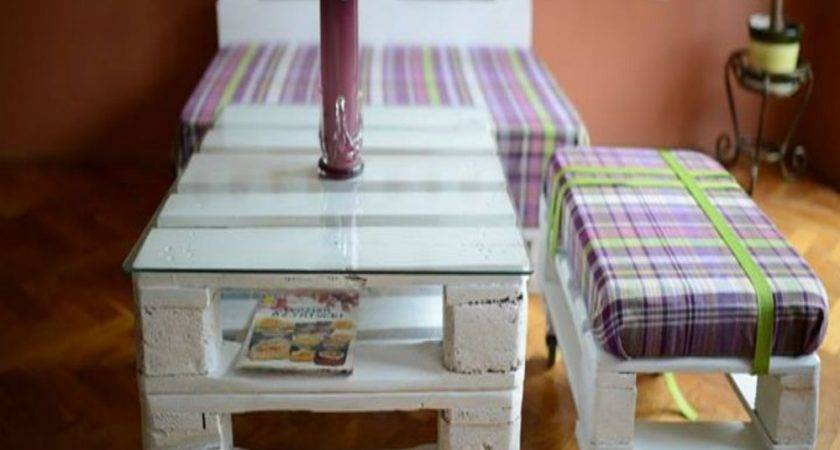 Unique Pallets Furniture Set Pallet Ideas Recycled