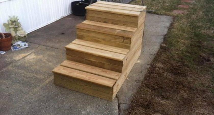 Unique Wooden Portable Steps Your Travel Trailer