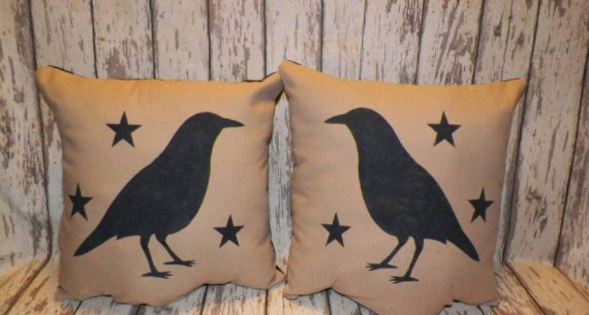 Unstuffed Primitive Pillow Cover Sofa Set Crow Wvluckygirl