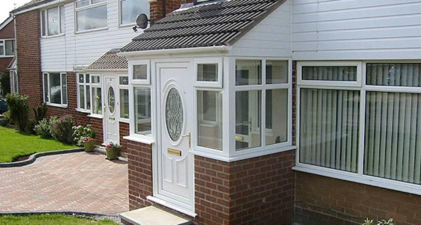 Upvc Porch Dwarf Wall Tiled Lean Roof Cladding