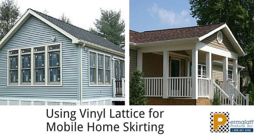 Using Vinyl Lattice Mobile Home Skirting