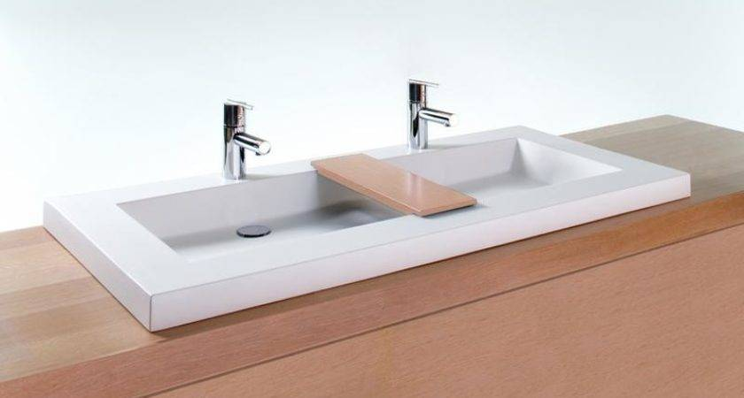 Vcs Bathroom Double Trough Sink Cube Collection