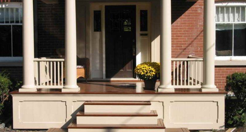Veranda Design Ideas Wood Front Porch Steps