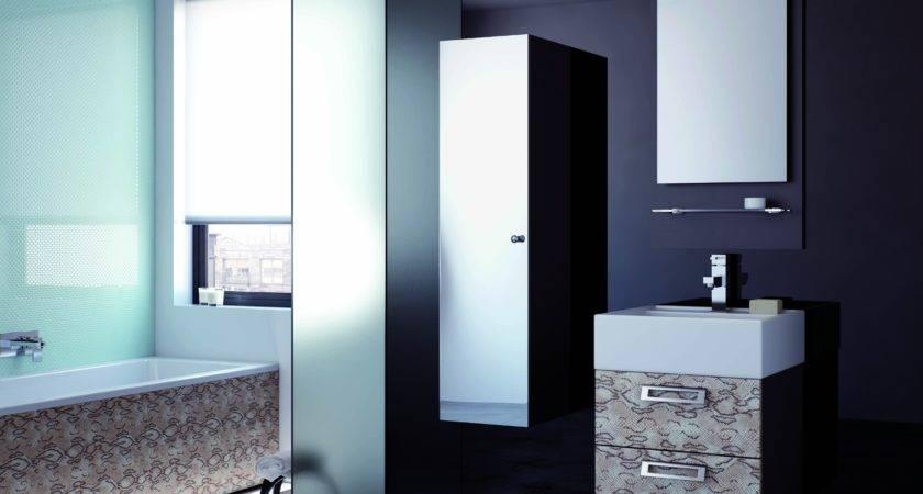 Vibe Designer Modular Tall Mirrored Bathroom Cabinet
