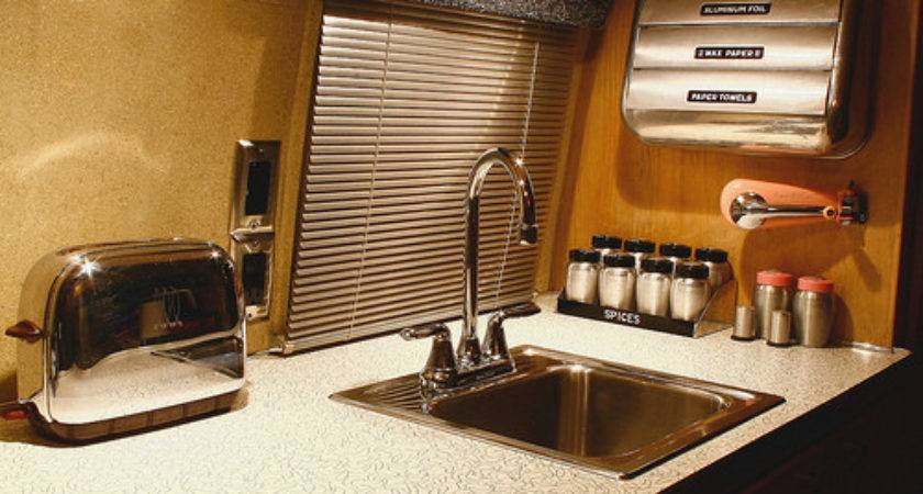 Vintage Airstream Interior Kitchen Flickr