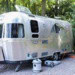 Vintage Airstream Trailer Campsite Editorial
