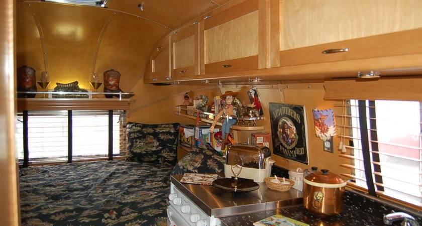 Vintage Airstream Trailer Interiors Oldtrailer