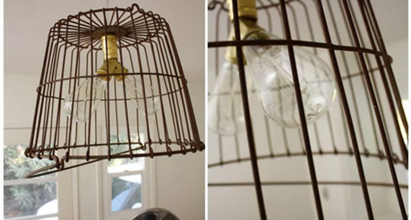 Vintage Basket Light Fixture Hello Lidy