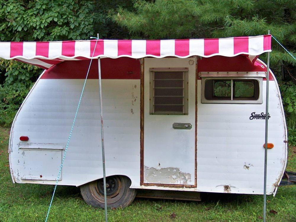 Vintage Camper Awning Sew Country Awnings - Can Crusade