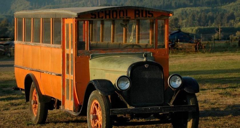 Vintage School Bus Awaits Home