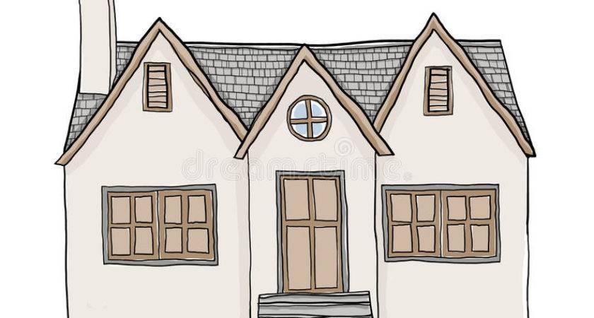 Vintage Small House Illustration