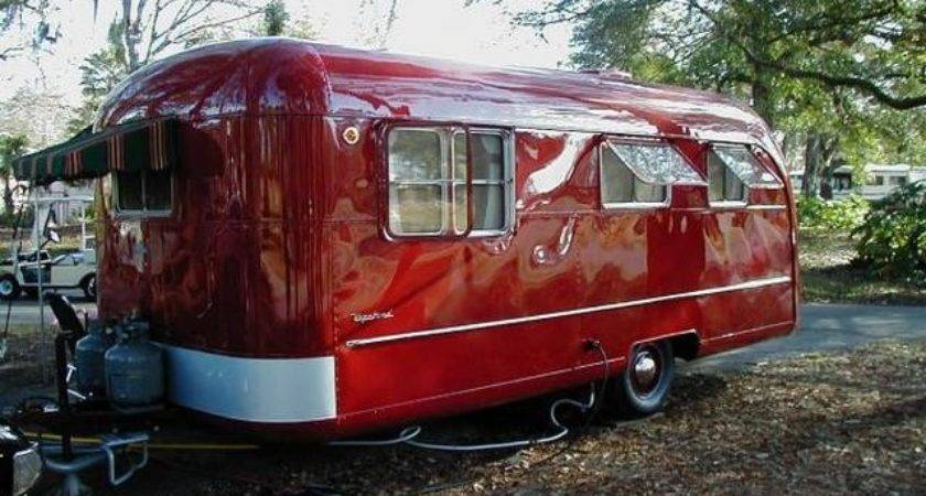 Vintage Trailers Red Vagabond Campers