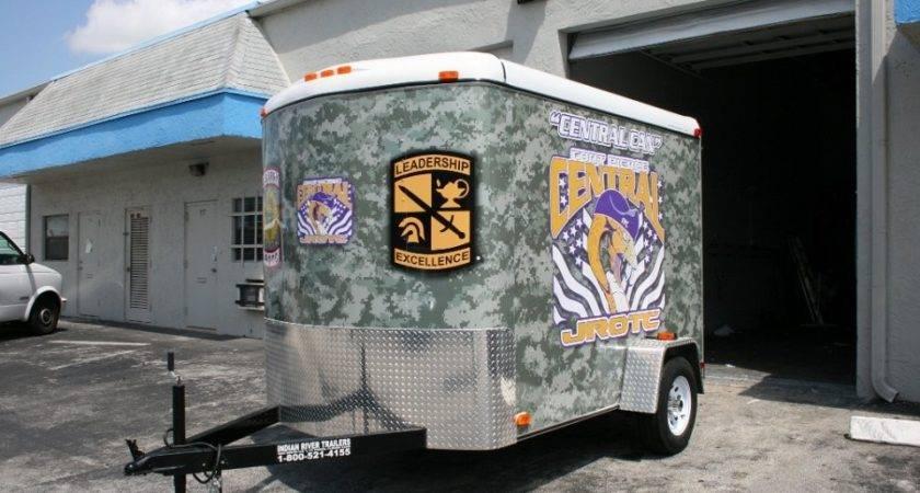 Vinyl Trailer Wrap Fort Pierce Jrotc Car Solutions