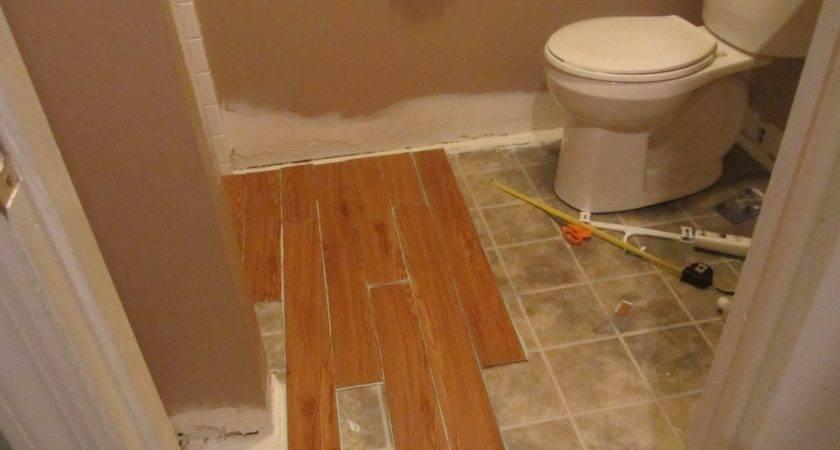 Vinyl Wood Bathroom Took Hour Whole
