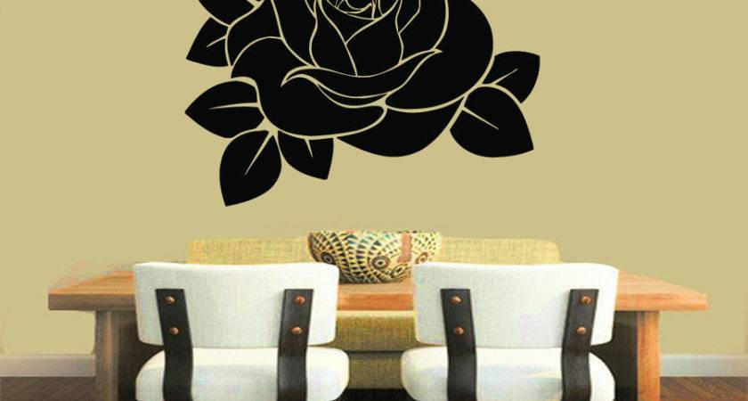Wall Vinyl Sticker Decals Art Mural Decor Rose Flower