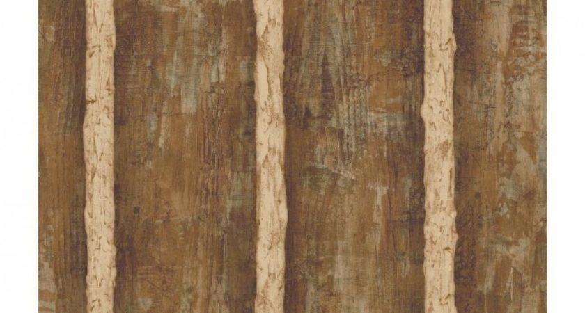 Walnut Brown Faux Log Cabin Cream Grout