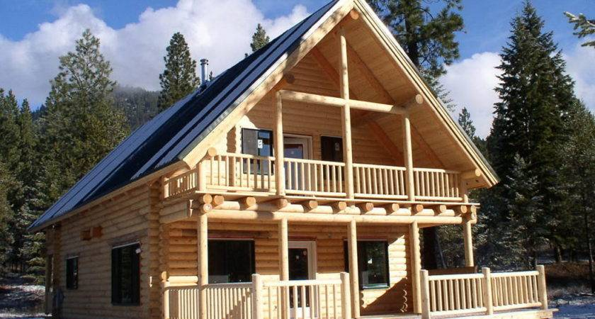 Warm Double Wide Log Home Taupe Wall Applied