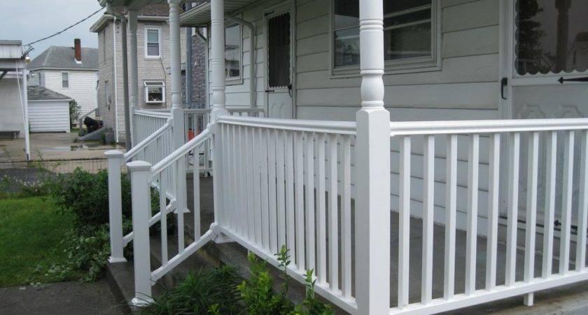 White Creative Porch Railing Color Ideas Small Patio