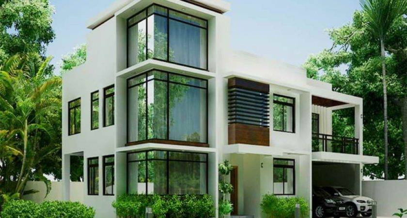 White Modern Contemporary House Plans Plan