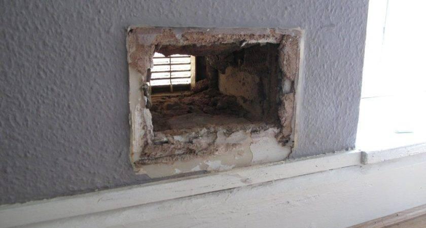 Widening Small Hole Thick Brick Wall Handyman Job
