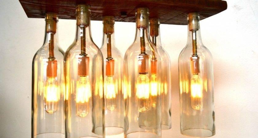 Wine Bottle Chandelier Meyda Copper Finished