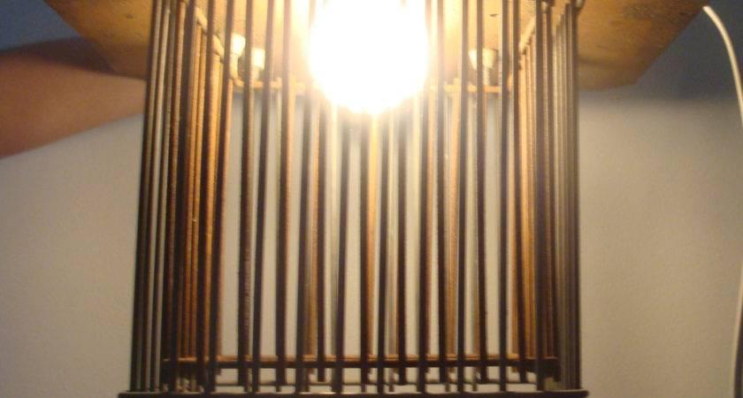 Wire Basket Industrial Light Fixture Ceiling