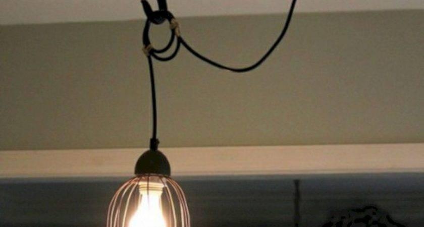 Wire Basket Lamp Pendant Light Fixture