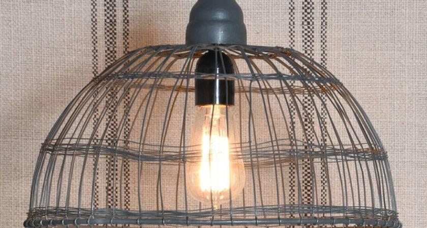 Wire Basket Pendant Lamp Zinc Light Fixture
