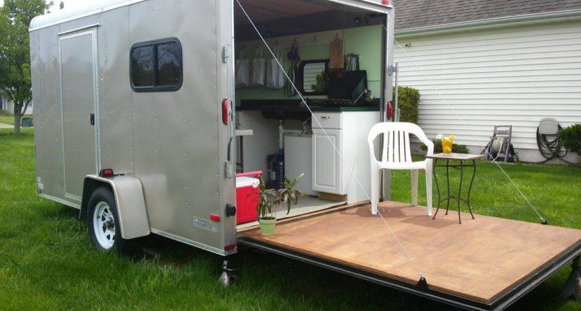 Woman Converts Cargo Trailer Into Stealthy Cozy Off
