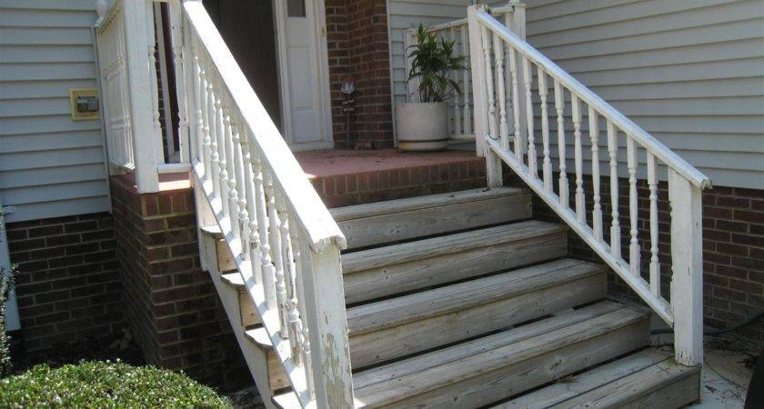 Wood Front Porch Steps Classic Step Designs Pecan Dma