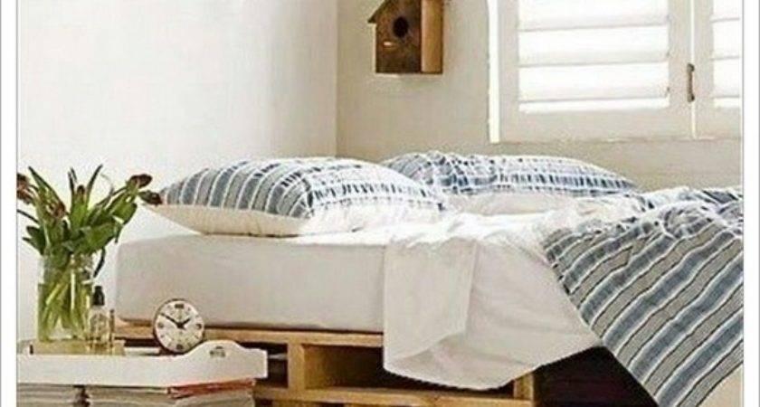 Wood Pallet Bed Frame Lights Home Design Ideas