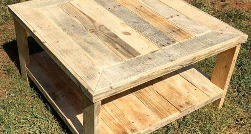 Wood Pallet Square Coffee Table Furniture Plans