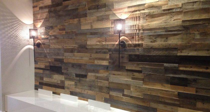 Wood Pallet Wall Hotter Home Interior Decor