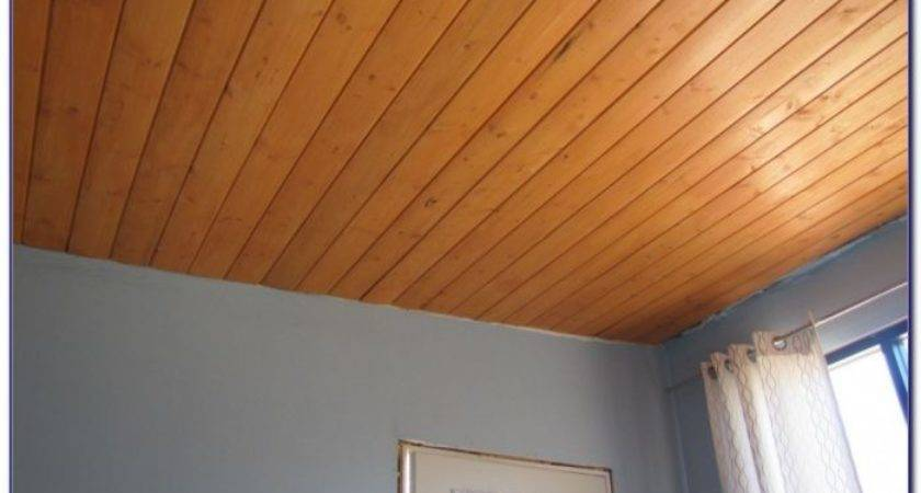 Wood Paneling Ceiling Home Design Ideas