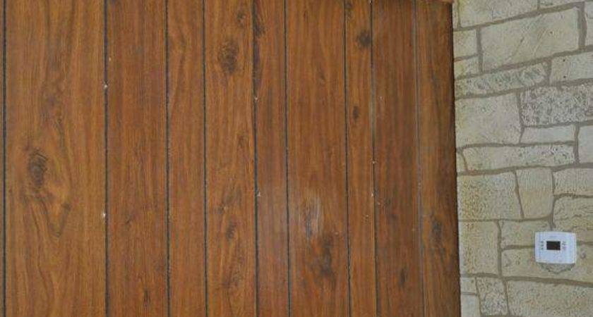 Wood Paneling Makeover Aged Plaster Treatment Mobile