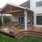 Wood Patio Cover Ideas Open Gable Design