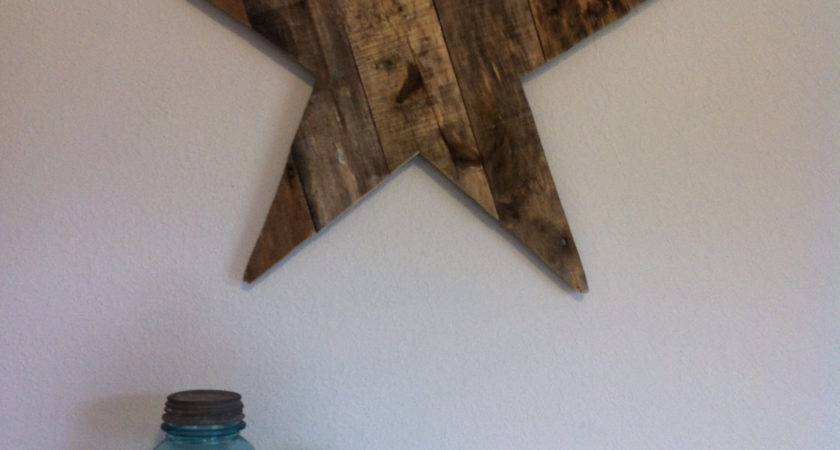 Wood Star Decor Sign Rustic Country