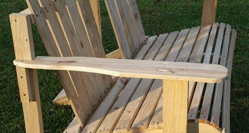 Wooden Pallet Adirondack Bench Chair Ideas