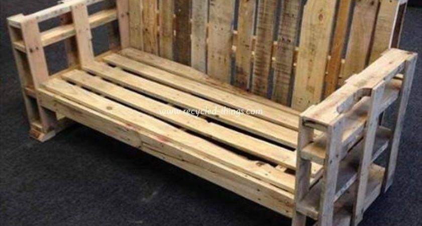 Wooden Pallet Bench Plans Recycled Things
