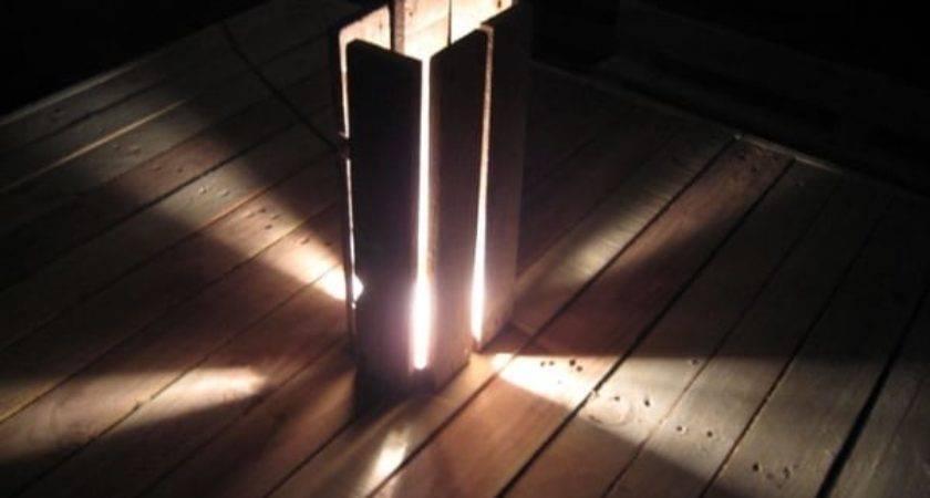 Wooden Pallet Floor Lamp Lights