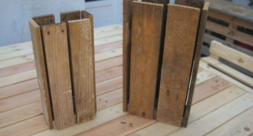Wooden Pallet Floor Lamp Lights