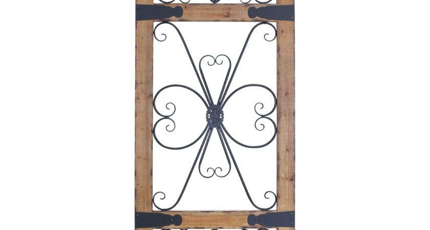 Woodland Imports Wood Metal Decorative Wall