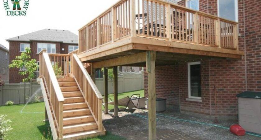 Woodwork Elevated Deck Plans Pdf